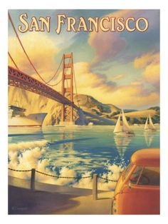 San Francisco Giclee Print by Kerne Erickson at AllPosters.com