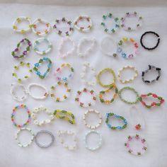 Diy Beaded Rings, Diy Jewelry Rings, Handmade Wire Jewelry, Diy Crafts Jewelry, Bracelet Crafts, Seed Bead Jewelry, Bead Jewellery, Cute Jewelry, Handmade Bracelets