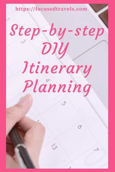 Find out what DIY itinerary planning is, why it is important and find out about the step-by-step process for DIY itinerary planning. via @focusedtravels