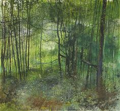 Kurt Jackson: Chestnuts fall into the ferns below. October 2014 Campden Gallery.
