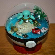Pokeball Terrarium Squirtle Diorama Pokeball with stand 4