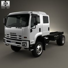 Isuzu FTS 800 Crew Cab Chassis Truck 2014 3d model from humster3d.com. Price: $75