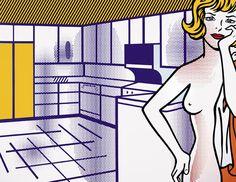 Roy Lichtenstein - Nude in Kitchen (1995)