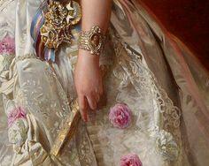 Gods and Foolish Grandeur: Queen Isabel II of Spain and her daughter, Infanta Isabel, by Winterhalter, 1852