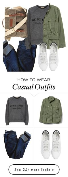 """""""Just Something Casual"""" by creativejenerator on Polyvore featuring Acne Studios, Burberry, Prada and Cathy's Concepts"""