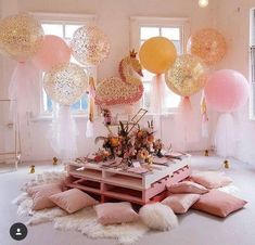 A magical swan princess party by featuring out enchanting signature tulle balloons Sleepover Birthday Parties, Baby Birthday, Birthday Party Themes, Adult Slumber Party, Birthday Table, Birthday Ideas For Girls, Slumber Party Ideas, Bachelorette Slumber Parties, Toddler Tea Party