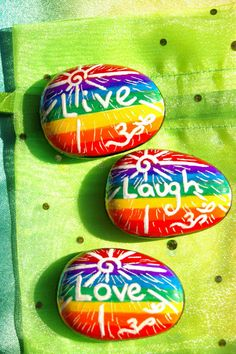 Hey, I found this really awesome Etsy listing at https://www.etsy.com/listing/195024673/hand-painted-chakra-stones-live-laugh
