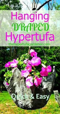 The Draped Hypertufa pot is nice as a hanging pot too! Just attach a chain. Info on the post. via @hypertufagarden