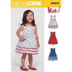 39b7966b154 New Look Sewing Pattern N6610 Toddlers  Dress