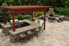 pergola over outdoor kitchen - Google Search