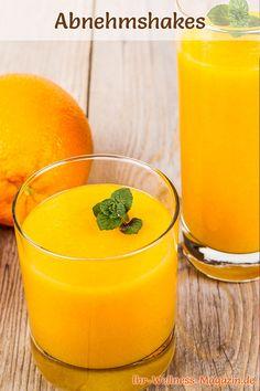 Rezept: Gesunder Orangen-Shake zum Abnehmen.