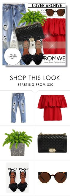"""""""Romwe !!"""" by dianagrigoryan ❤ liked on Polyvore featuring Quay"""