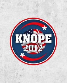"""Leslie Knope Sticker! """"Knope 2012"""", parks and recreation, Amy Poehler. pawnee city council election"""