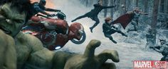 The Avengers spring into action in Marvel's 'Avengers: Age of Ultron,' coming to theaters May 1. Get tickets: http://Fandango.com/Avengers