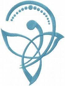 Celtic mother child symbol free embroidery design