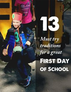 13 Fun Traditions for your kids' first day of school - love them all!