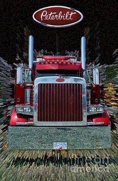 Abstract Peterbilt by Randy Harris - Abstract Peterbilt Photograph - Abstract Peterbilt Fine Art Prints and Posters for Sale Show Trucks, Big Rig Trucks, Pickup Trucks, Truck Drivers, Bagged Trucks, Ford Trucks, Heavy Duty Trucks, Heavy Truck, Custom Big Rigs