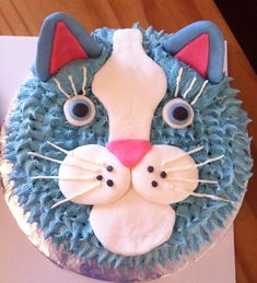 Cat Cake with buttercream instead of fondant