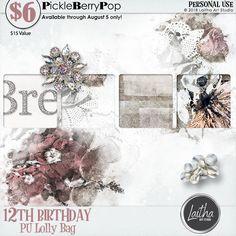 Lolly Bag - PU {by Laitha Art Studio} 12th Birthday, Birthday Celebration, Happy Birthday, Lolly Bags, Digital Scrapbooking, Studio, Free, Happy Brithday, Urari La Multi Ani