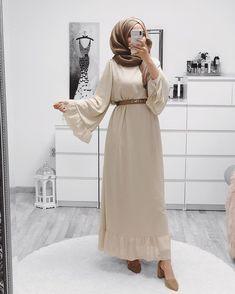 Modern Hijab Fashion, Street Hijab Fashion, Hijab Fashion Inspiration, Muslim Fashion, Mode Inspiration, Modest Fashion, Modest Dresses, Modest Outfits, Eid Outfits