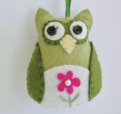 This whimsical Owl Ornament has many uses. It would be a great addition to a childs room, use as a gift topper, a party favor or as a