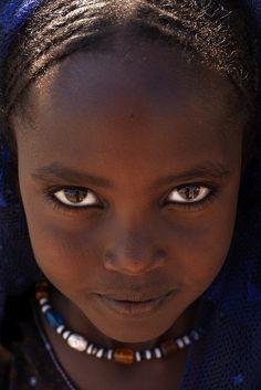Afar girl's eyes, Danakil, Ethiopia