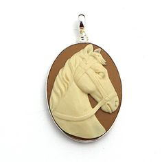 Coreen Cordova Ivory Horse Cameo Pendant at Maverick Western Wear