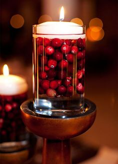 For a fresh spin on traditional décor, it's time to consider cranberries. These festive berries have a rich color that perfectly embodies the season and will look great as an accent.