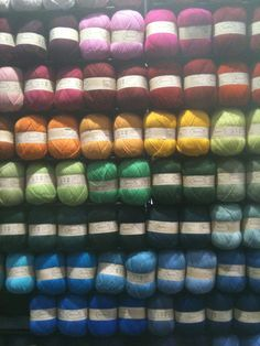 Kauni Display at Stitches West 2011. I want 1 of all of them.