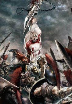 God of War 2 - Platinum Kratos God Of War, Best Gaming Wallpapers, Dope Wallpapers, God Of War Game, War Tattoo, Mortal Kombat Art, Video Game Posters, Tattoo Graphic, Gears Of War