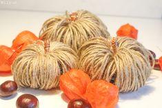 Herbstliche Faden Kürbisse Deko aus Paketband Food, Simple Diy, Seasons Of The Year, Homemade, Kids, Essen, Meals, Yemek, Eten