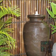 Our Amphora Fountain Could this be the ideal feature for your home? Price $999.00 + Shipping - Free pick-up available in Melbourne. or 4 fortnightly payments of $249.75 with AfterPay. Material: Concrete GRC Size: Height 1.2mtr Base: 70cm x 70cm x 25cm Product includes: Pump Colours: Rust, Charcoal #waterfeatures Water Features In The Garden, Rust Color, Water Garden, House Prices, Weather Conditions, Fountain, This Is Us, Colours, Ponds