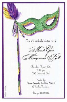 Mardi gras weddings on pinterest masquerade wedding for Masquerade invitations template free