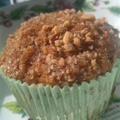 Whole Wheat Sweet Potato Muffins: 1/2 cup honey (maybe even a little less), 1 cup oats, 1 cup whole-wheat flour, ½ cup milk, ¼ cup applesauce, should add more almonds, ½ of the toppings --> try to make sky high next time w/ more flour