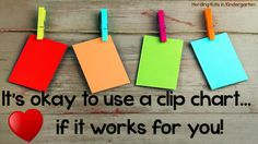 Awesome blog post about using a classroom Clip Chart effectively