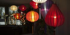De Chinese lampionnen van Lampionsenzo te zien in een chinees restaurant.