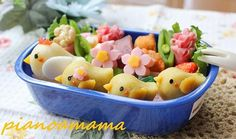 mashed potatoes chicken family bento