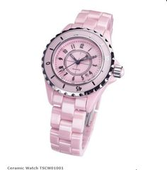 pink ceramic watch for lady