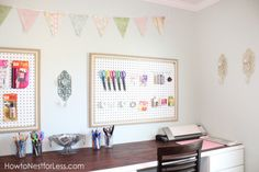 craft room peg boards