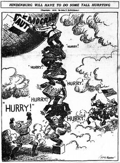 "World War I Live on Twitter: ""Jun 13th 1918: ""Hindenburg will have to do some tall hurrying"" (US cartoon).… """