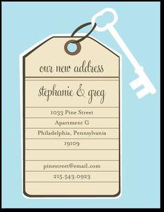 Powder Blue Moving Announcement Postcards
