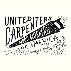 #ShareIG United carpenters & wood workers of America . Design for  @weareallsmith .  #Handlettering #lettering #drawing #draw #vintage #wood #worker #america #american #saw #design #usa #jims #wawawsrynn