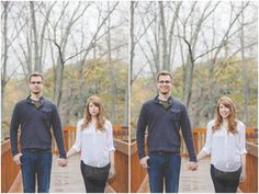 Fall engagement photography pose | E Schmidt Photography | Metro Detroit Wedding Photographer #pose #fall #tallgroompose #detroitwedding #engagementphotography