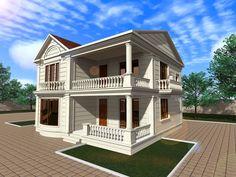 Проект загородного дома, выполнен мною на заказ. Проект полностью авторский.