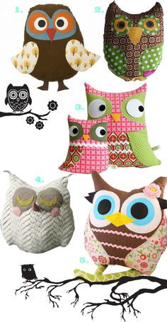 I got so addicted with owls :( Not like I have many... I got one necklace, and I would love to make a felt owl... but I find myself awwwing everytime I see owls :)