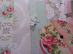 Vintage Wallpaper Kit c1940s ROSES scrapbook sheets by FSBstudio, $25.00