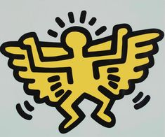 Bid now on Angel (from Icons) by Keith Haring. View a wide Variety of artworks by Keith Haring, now available for sale on artnet Auctions. Keith Haring Poster, Keith Haring Prints, Keith Haring Art, Paintings Famous, Famous Artists, K Haring, Tv Movie, Principles Of Art, Illustration