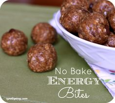 No Bake Energy Bites - These look amazing! I love no bake cookies and create them in a healthier way...now off to try these.