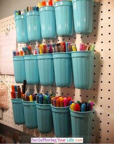 Craft Room Wall - DIY Peg Board Wall organizer for Craft Supplies - Craft Room Organizing Ideas - Easy ways to organize craft supplies on a budget