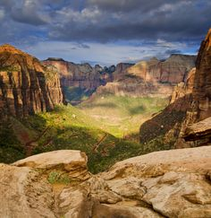 Zion National Park . I was arrested for skinnydipping in the Emerald pool in the 70's here!! went back in 2007 to the scene of the crime, only now it is a REALLY short hike.Not the out of the way beauty it was in the 70's.